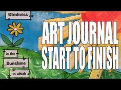 Mike Deakin #lovesummerart Mixed Media Art Journal Page - Kindness - YouTube time 22:34; July 17, 2015