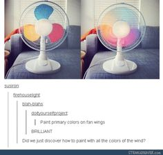 Did we just discover how to paint with all the colors of the wind? Hahaha (wait, which board should this even go on? My Disney board, my Ideas board, or my Funny things board? Disney And Dreamworks, Disney Pixar, Disney Puns, Funny Disney, Tumblr Funny, Funny Memes, Rainbow Drinks, We Are The World, Looks Cool