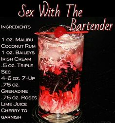 Bartenders cocktails hot sex ingredients
