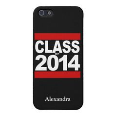 Bold Black/White/Red Class of 2014 Personalized iPhone 5 Case