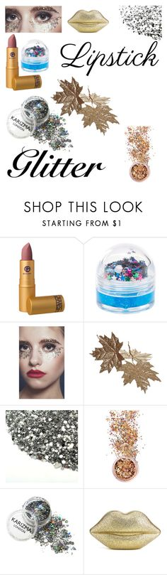 """""""#glitter #polyvore"""" by aminamuratovic3 ❤ liked on Polyvore featuring beauty, Lipstick Queen, claire's, In Your Dreams and Lulu Guinness"""
