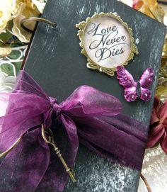 Halloween steampunk 'Love never dies', Guest Book, Journal,   READY TO SHIP