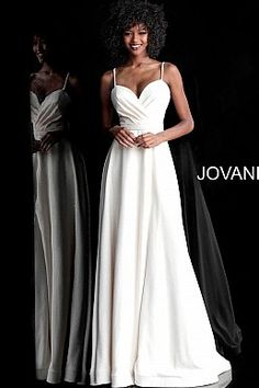 b1ce28a086c Ivory Glitter Spaghetti Straps A Line Prom Dress 66253. Long Prom GownsA  Line Prom DressesBridesmaid ...