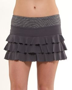 Lululemon Running Skirt....how cute is this?  I am glad skirts are making a comeback in the workout world! : )