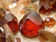 Love these! Like mini houses of healing! Spessartine Garnet / Pakistan