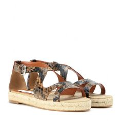 Stella McCartney - Faux snakeskin sandals - Opt for Stella McCartney's faux snakeskin sandals to see you through the summer days. The quirky design is a feminine alternative to simple two-strap styles, while the espadrille-style sole adds comfort and height. seen @ www.mytheresa.com