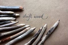 driftwood twig pencils