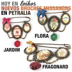 Broches Missangas