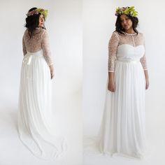 size boho wedding dress beach bohemian dresses sexy sheer