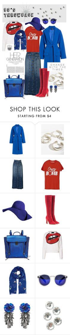 """""""Whatever"""" by amyopt ❤ liked on Polyvore featuring Alexander McQueen, Luiny, Current/Elliott, Ganni, Gianvito Rossi, 3.1 Phillip Lim, Spitfire, Forest of Chintz and Darice"""
