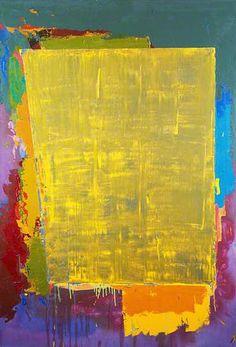"John Hoyland - ""Verge"", Acrylic on canvas, 74 x 53 x 135 cm) Gerhard Richter, Modern Art Paintings, Art Uk, Painting Edges, Abstract Oil, Texture Art, Les Oeuvres, Cool Art, Street Art"