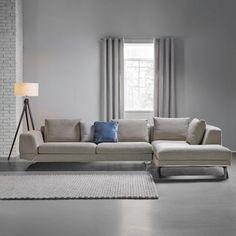 Fesselnd Design Ecksofa APARTMENT Strukturstoff Graphit Federkern Sofa  Schlaffunktion. Schicke Wohnlandschaft In Braun   Ein Sitzplatz Zum  Wohlfühlen