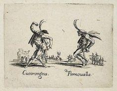 Cucorongna and Pernoualla, from Balli di Sfessania (c.1622)