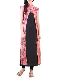 Buy Libas bandhani print jacket style kurta Online, , LimeRoad Salwar Designs, Blouse Designs, Dress Designs, Indian Attire, Indian Wear, Casual Dresses, Casual Outfits, Fashion Outfits, Indian Dresses