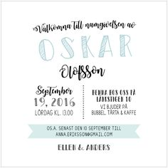 Inbjudan dop Christening, Invitations, Party, Future, Kids, Students, Children, Fiesta Party, Future Tense