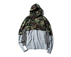SOPHNET. | PRODUCT | CAMOUFLAGE PANEL BORDER PULL OVER HOODY