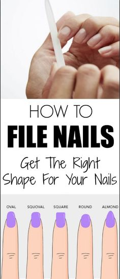 How To File Nails – Get The Right Shape For Your Nails Do you want your nails to stay and look as . Read moreHow to File Nails – Get the Right Shape for Your Nails Grow Nails Faster, How To Grow Nails, How To Paint Nails, How To Shape Nails, Nail Painting Tips, Gel Nails Shape, Nail Care Tips, Nail Tips, Tips For Nails