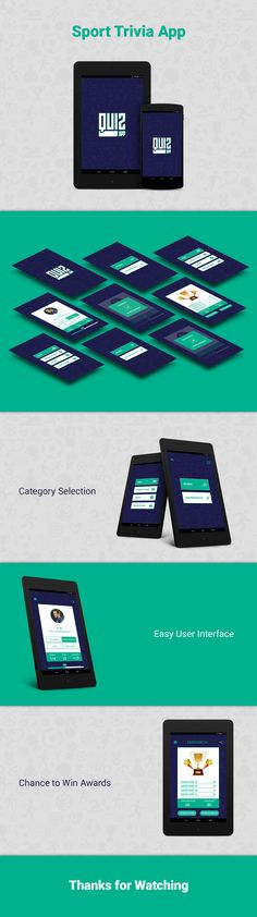 Sports Trivia - Quiz App UI Design on Behance