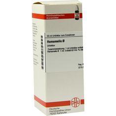 HAMAMELIS Urtinktur:   Packungsinhalt: 50 ml Dilution PZN: 02123770 Hersteller: DHU-Arzneimittel GmbH & Co. KG Preis: 14,28 EUR inkl. 19…
