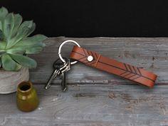 Schlüsselanhänger - Schlüsselanhänger // Leder // Siebdruck - ein Designerstück von MINUK bei DaWanda