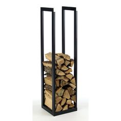 Rangement de bois en acier Klub, noir | Leroy Merlin                                                                                                                                                                                 Plus
