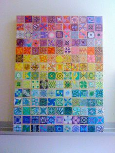 New Eyes Paper Quilt by designcamppdx, via Flickr