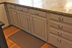 Painted Cabinets traditional kitchen - annie sloane half white and half French linen with smoke glaze and wax