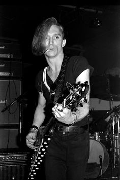 The Cramps: Bryan Gregory by Richard Verdi, CBGBs, ca 1978 via Anarcho Punk, Music Pics, 80s Music, The Cramps, The New Wave, Joan Jett, Billy Joel, Rockn Roll, Black N White Images