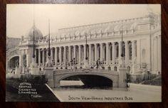 Varied Industries Bldg, Mogul Egyptian Cigarettes, 1904 St Louis World's Fair  vintage postcard