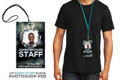 Youth Group Event VIP Pass - Create a professional looking badge in minutes, this is a great design for Christian concert or event.