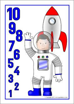 Rocket countdown posters 10-0 (SB3949) - SparkleBox