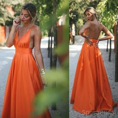 Orange Charming Cheap Modest Spaghetti Straps Pretty High Quality Long Prom - Orange Charming Cheap Modest Spaghetti Straps Pretty High Quality Long – NewestDress Source by torearamsay - Straps Prom Dresses, Grad Dresses, Dress Outfits, Casual Dresses, Bridesmaid Dresses, Long Dresses, Club Dresses, Orange Homecoming Dresses, Orange Formal Dresses