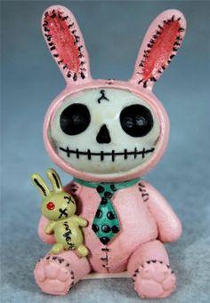 Furrybones Pink Bun Bun Bunny Rabbit Skull Skeleton in Costume Figurine   eBay