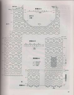 Crochet minuni: bluze din Verão_Modelo japoneze