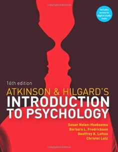 Atkinson & Hilgard's Introduction to Psychology av Barbara Fredrickson (Mixed media product) Psychology Textbook, Psychology Books, I Love Books, Books To Read, This Book, Barbara Fredrickson, Introduction To Psychology, Freud Quotes, Student Engagement