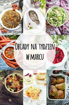 obiady_na_tydzien_w_marcu Meal Prep, Chili, Food And Drink, Soup, Healthy Recipes, Meals, Baking, Dinner, Ethnic Recipes