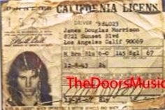 Jim's driving license / Jim Morrison