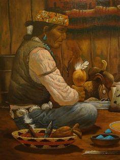 Paintings by Robert Becenti  - Navajo Artist(1949-2001)