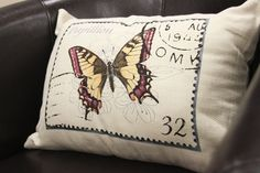 Butterfly Stamp Pillow (at Meijer stores) #MeijerDormDecor and #DormDecor
