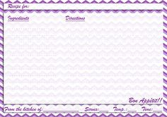 green purple recipe card printable recipe cards pinterest recipe cards cards and free printable