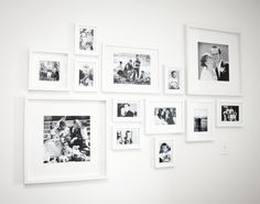 Wall Display Gallery Frame Layout 59 New Ideas Frames On Wall, Wall Collage, Ikea Frames, Collage Ideas, Ikea White Frames, White Photo Frames, Black Frames, Picture Frames, Wedding Picture Walls