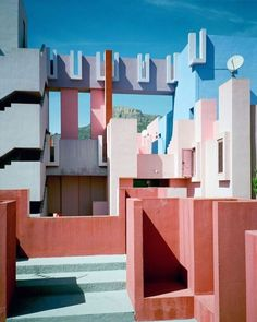 La Muralla Roja, Spanish for 'The Red Wall,' is a...