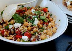 Food Pleasure Health: Barley & Chickpea Salad with Dates & Goat Cheese