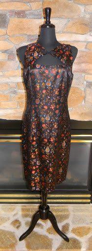 David Meister Asian Inspired Dress by shopnicspicks on Etsy, $40.00