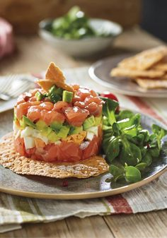 Salmon Y Aguacate, Healthy Cooking, Healthy Recipes, Healthy Food, Organic Recipes, Ethnic Recipes, Cooking Time, I Foods, Seafood