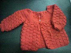 Doida Por Artesanato: Casaco para Bebê em crochê - By Marci