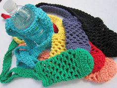 Water Bottle Holder You Pick the Color One by crochetedbycharlene