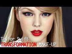 Taylor swift transformation make up (With subs) 테일러 스위프트 커버 메이크업 Makeup Videos, Makeup Tips, Beauty Makeup, Hair Makeup, Hair Beauty, Makeup Art, Eye Makeup, Britt Robertson, Gel Eyeliner