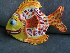Clay Fish from Templates Swim into Sixth Grade » K - 6 Art