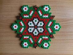 Noël ornement de Noël Mandala Hama Perles par TCAshop sur Etsy